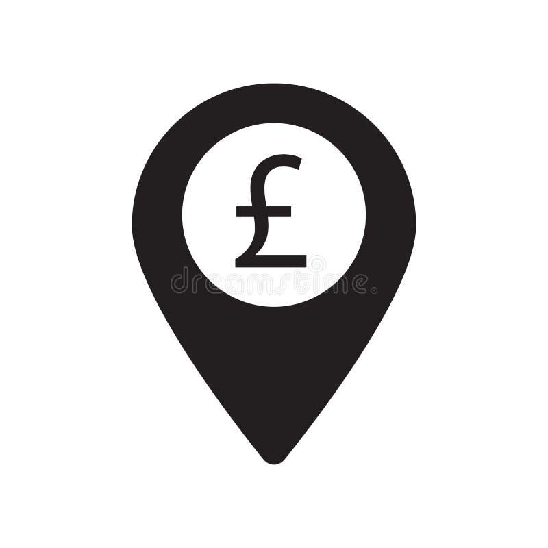 Punt van betalingspictogram het ontwerp vectorillustratie van het pondteken stock illustratie