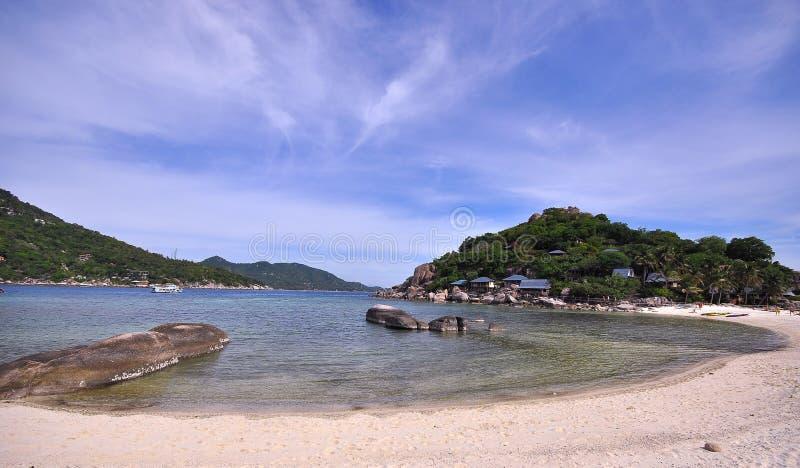 Punt van de het eilandmening van Koh Nang Yuan het tropische stock afbeelding