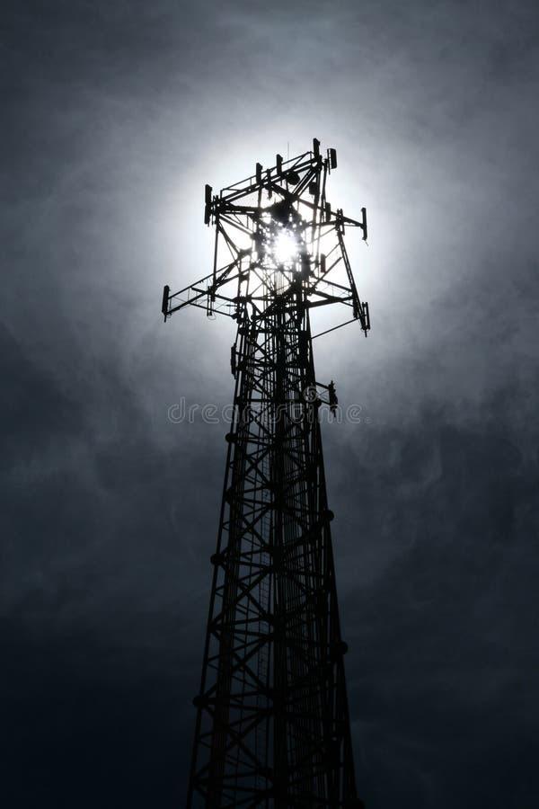Punt van licht, Punt van contact. stock fotografie