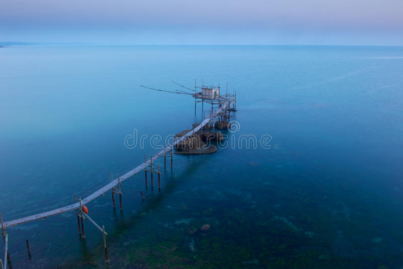 Punta Adrci, естественный запас в Abruzzo стоковые изображения