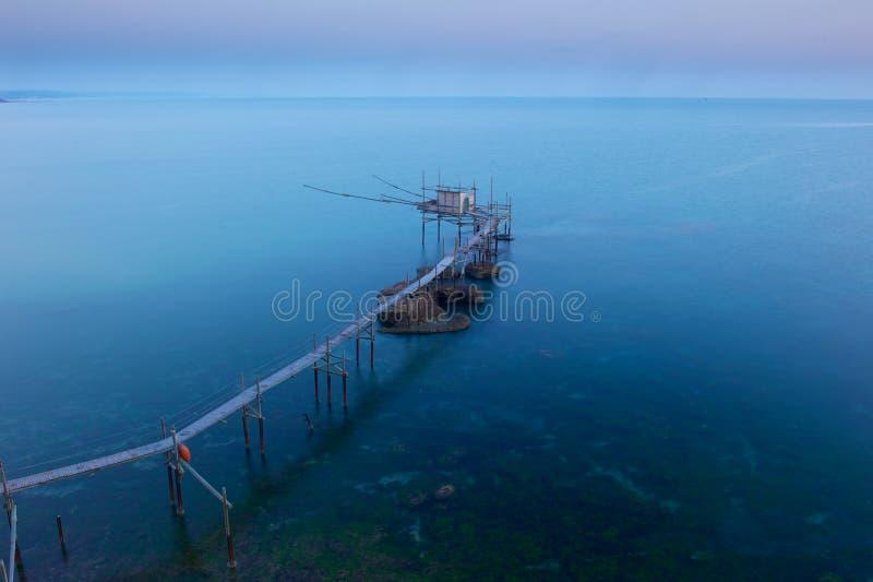Punta Adrci, riserva naturale nell'Abruzzo immagini stock