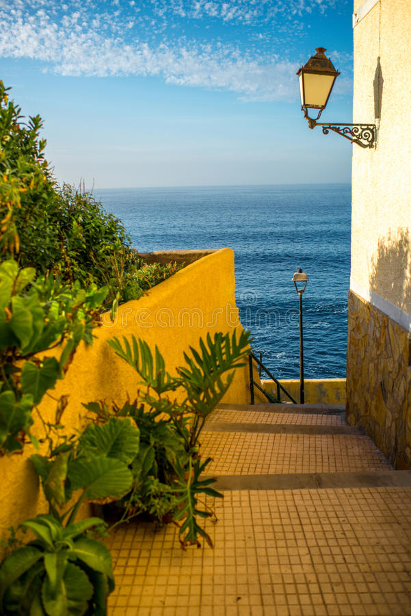 Punta Brava town on Tenerife island royalty free stock image