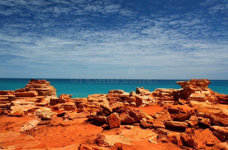Punta Broome WA de Gantheaume fotos de archivo