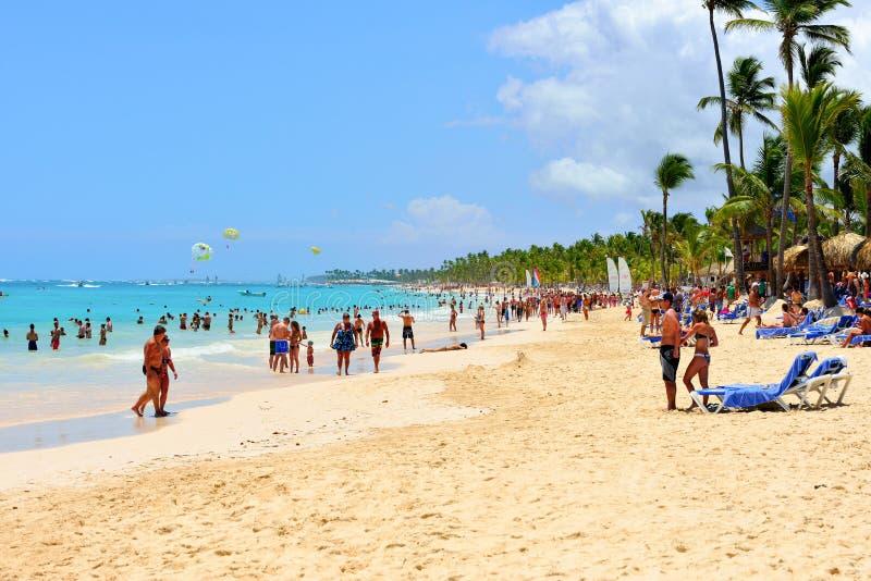 punta cana пляжа стоковые фотографии rf