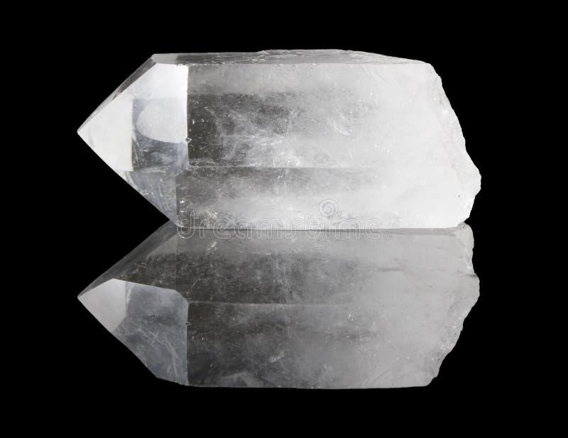 Punta clara del cristal de cuarzo imágenes de archivo libres de regalías