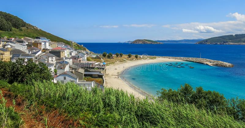 Estaca de Bares, small village in the northern Galicia, Spain. Punta de Estaca de Bares is the northernmost point of Spain and the Iberian Peninsula, at a stock photography