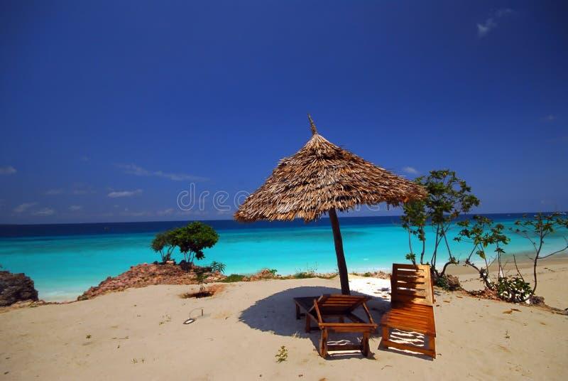 punta de relajación en la playa foto de archivo