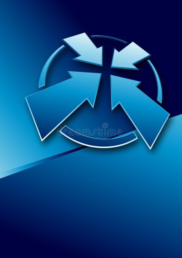 Punta de reunión azul stock de ilustración