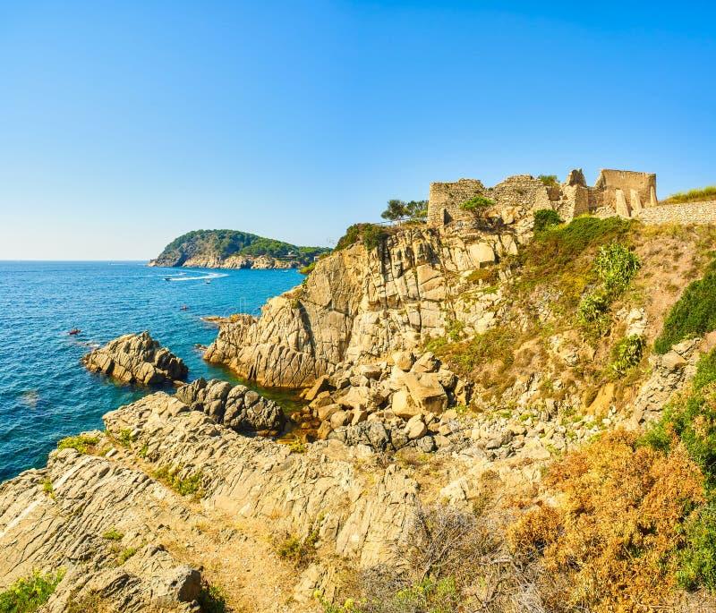 Punta de Sant Esteve Palamos, Girona, Spanien stockfotos