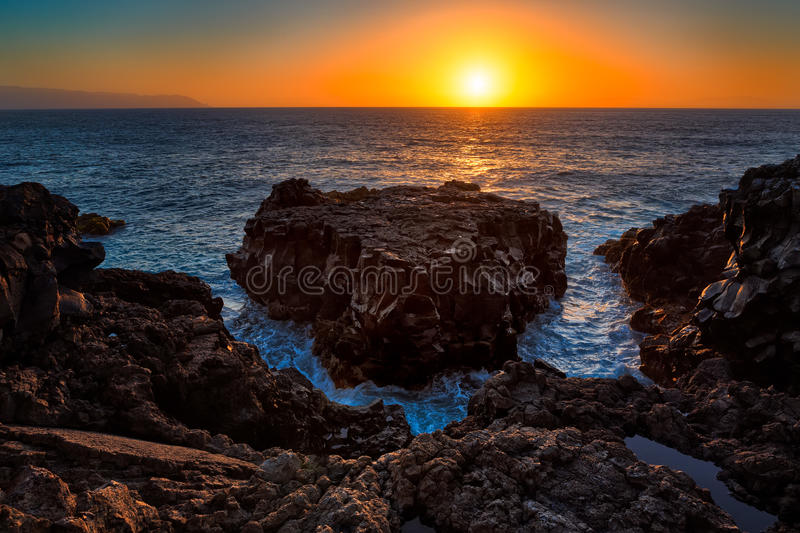Download Punta de Teno stock image. Image of spain, tide, sunset - 30615953