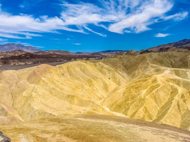 Punta Death Valley de Zabriskie imagen de archivo libre de regalías