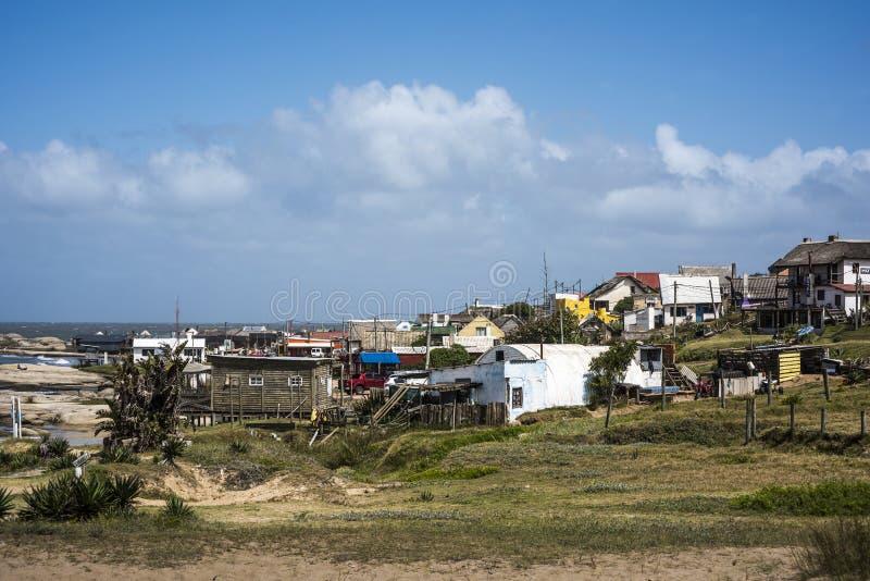 Punta del Diablo Beach i den Uruguay kusten fotografering för bildbyråer