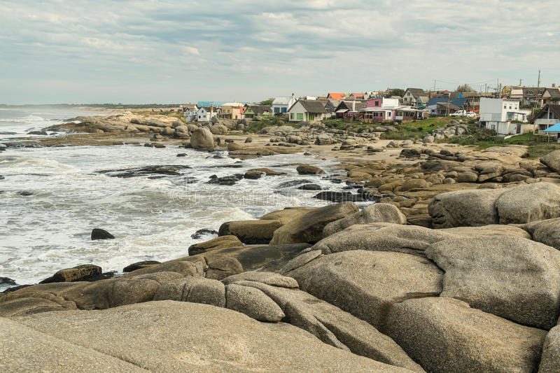 Punta del Diablo. A trendy beach resort on Uruguay East coast royalty free stock photos