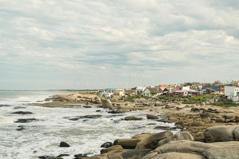 Punta del Diablo. A trendy beach resort on Uruguay East coast stock image