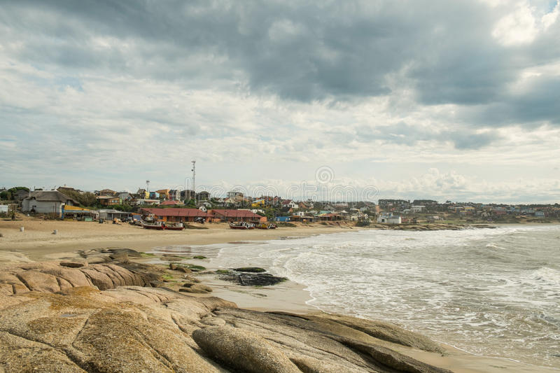 Punta del Diablo. A trendy beach resort on Uruguay East coast royalty free stock photography