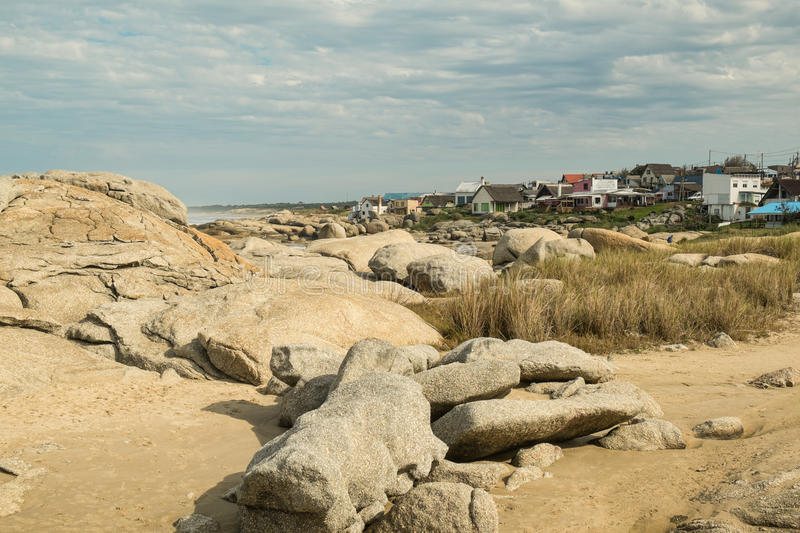 Punta del Diablo. A trendy beach resort on Uruguay East coast royalty free stock images
