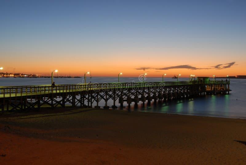 Download Punta del Este Beach Pier stock image. Image of relax - 7819655