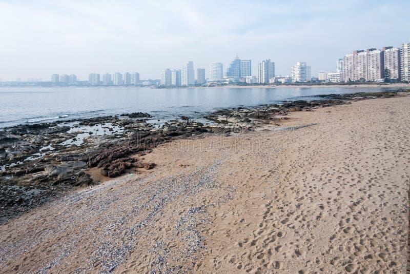 Punta del Este Beach Uruguay imagen de archivo libre de regalías