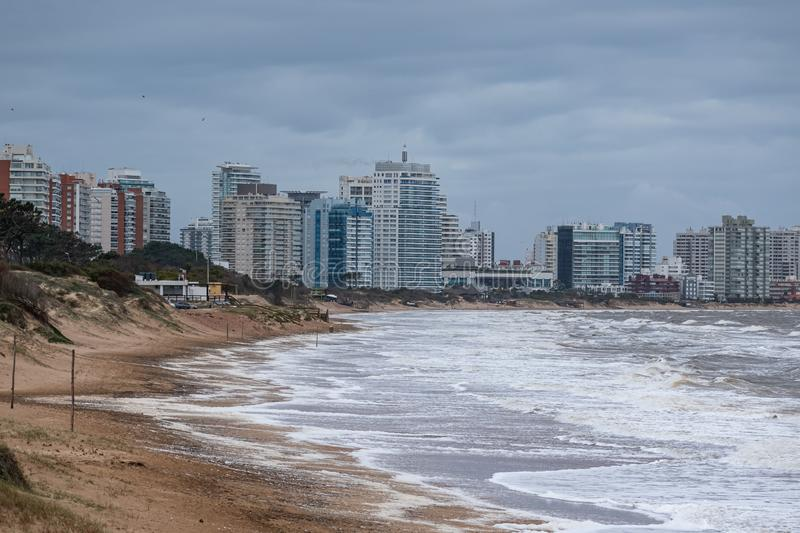 Punta del Este Peninsula beautiful place and beaches in eastern Uruguay stock photos
