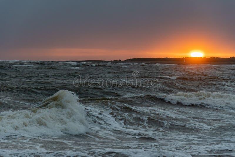 Punta del Este Peninsula beautiful place and beaches in eastern Uruguay stock photos
