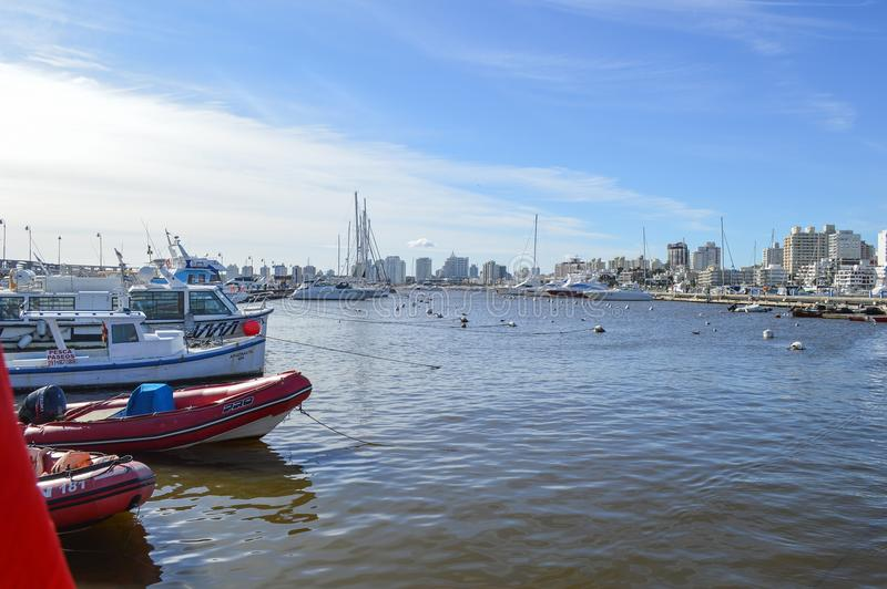 Punta Del Este, Urugwaj, dziewięć Czerwiec dwa tysiące, szesnaście i boa fotografia stock