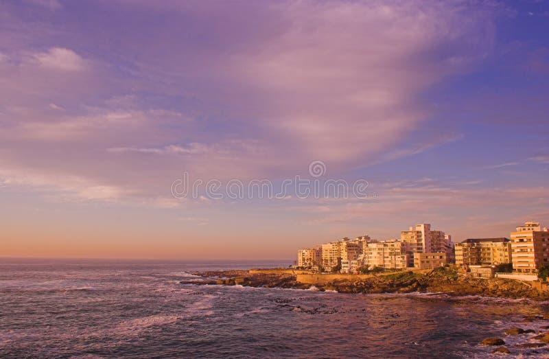 Punta del mar, Ciudad del Cabo, Suráfrica foto de archivo libre de regalías