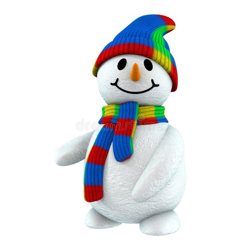 punta del muñeco de nieve 3d en ilustración del vector
