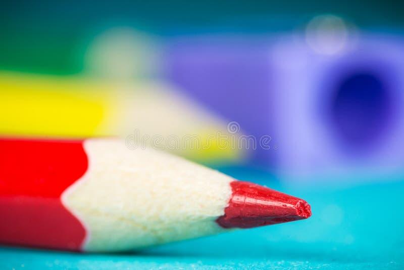 Punta della matita rossa fotografia stock