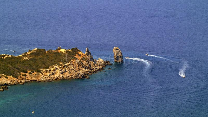 Punta Faraglione, Giglio Campese, Tuscany, Italy royalty free stock photo