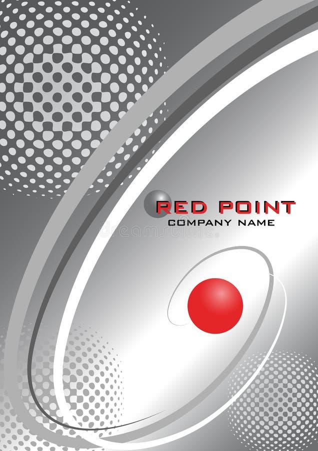 Punta fondo-roja del vector abstracto stock de ilustración