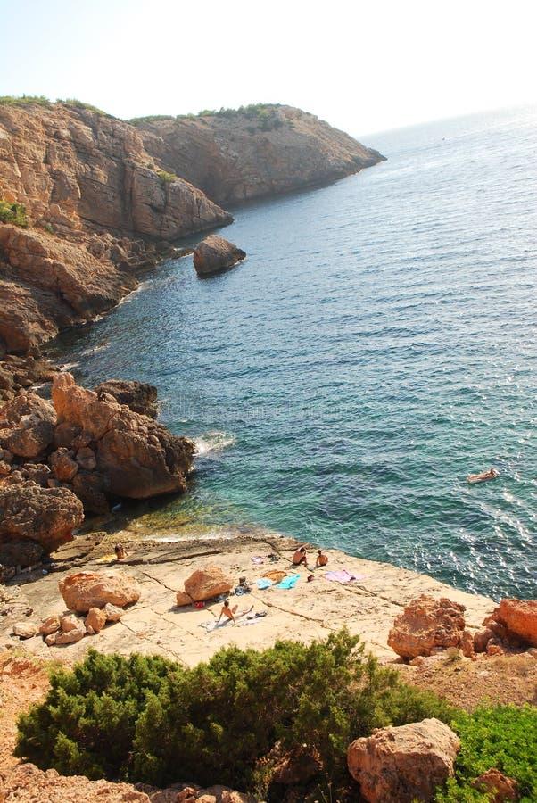 Punta Galera, Ibiza, Spanje royalty-vrije stock fotografie