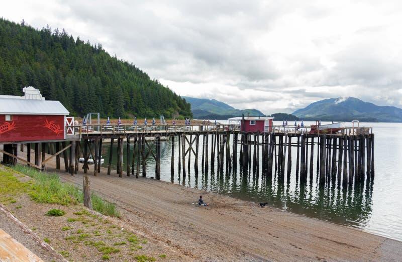 Punta helada del estrecho, Alaska imagenes de archivo