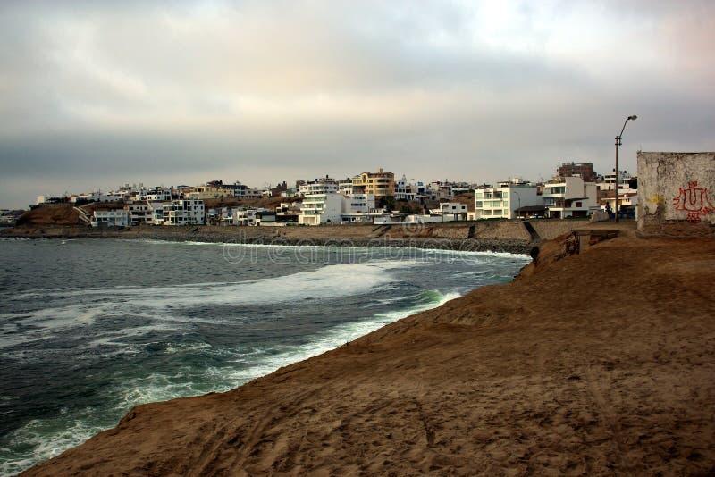 Punta Hermosa, costa costa foto de archivo libre de regalías
