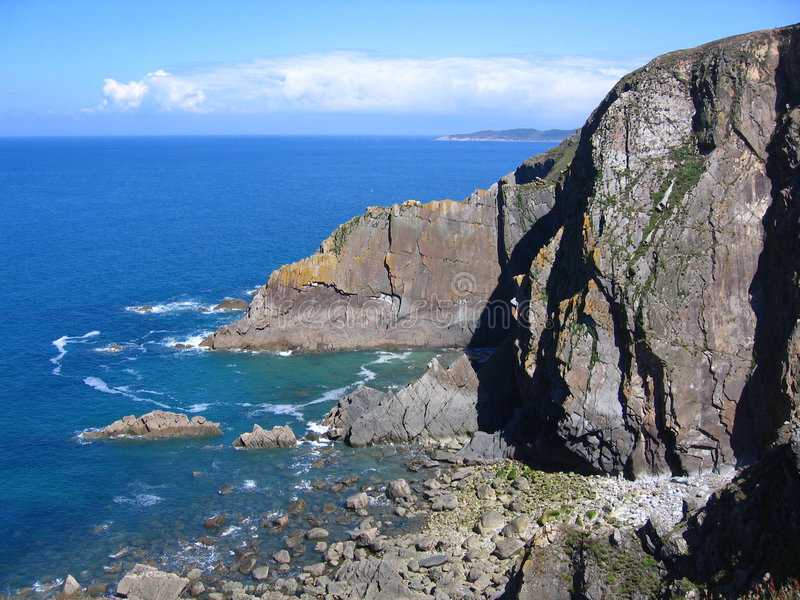 Punta holgada, Devon imagen de archivo