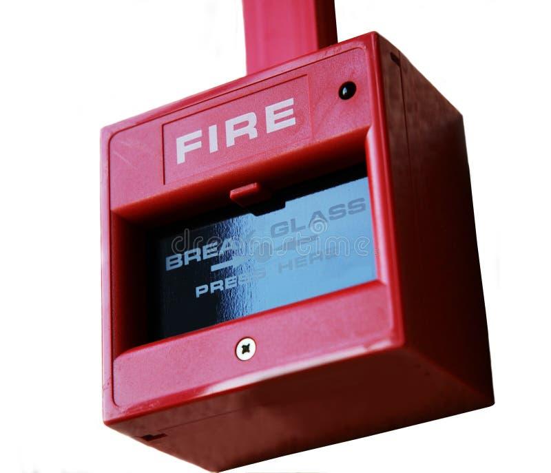 Punta la alarma de incendio fotografía de archivo
