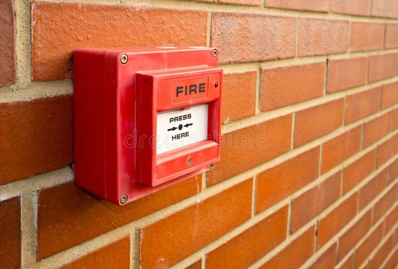 Punta la alarma de incendio fotografía de archivo libre de regalías
