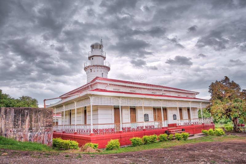 Punta Malabrigo Lighthouse, Lobo, Batangas, Philippines.  stock photos