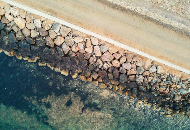 Punta Prima nadmorski w ranku przy latem Hiszpania obrazy stock