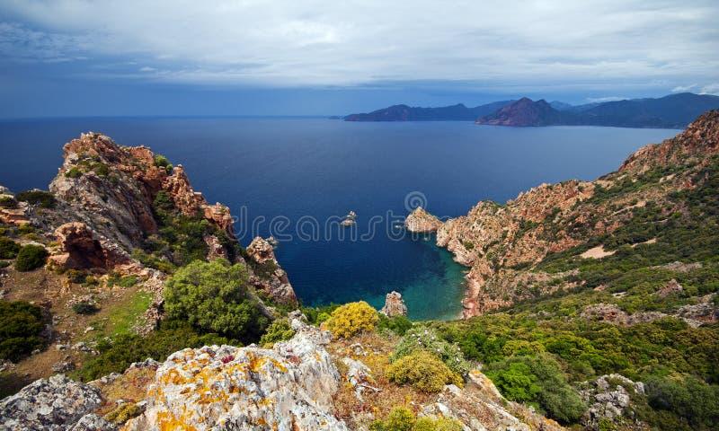 Punta Tuselli - la Corsica immagine stock