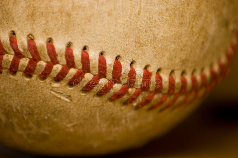 Puntada del béisbol fotografía de archivo