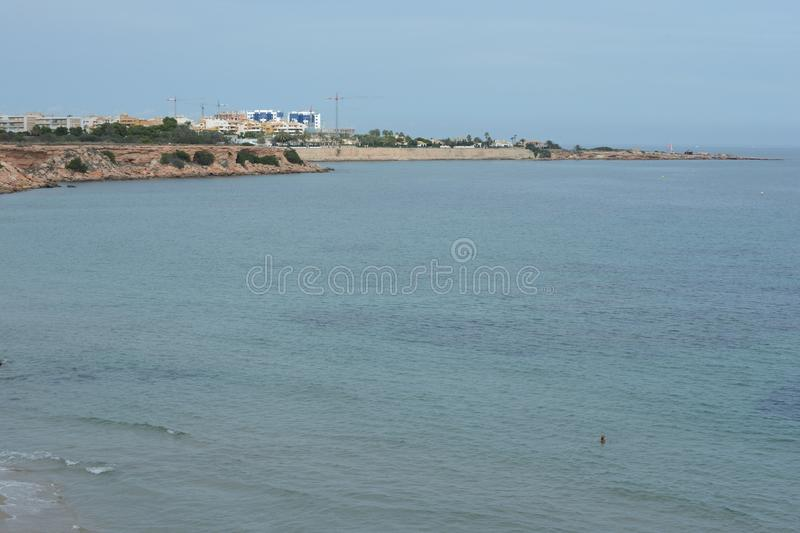 Puntaprima is het zuidelijkste deel van de populaire toevlucht van Torrevieja, wordt erkend als het het meest ecologisch schone g stock afbeelding