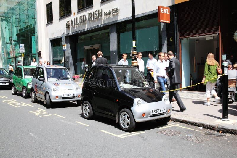Puntas de carga del coche eléctrico fotos de archivo libres de regalías