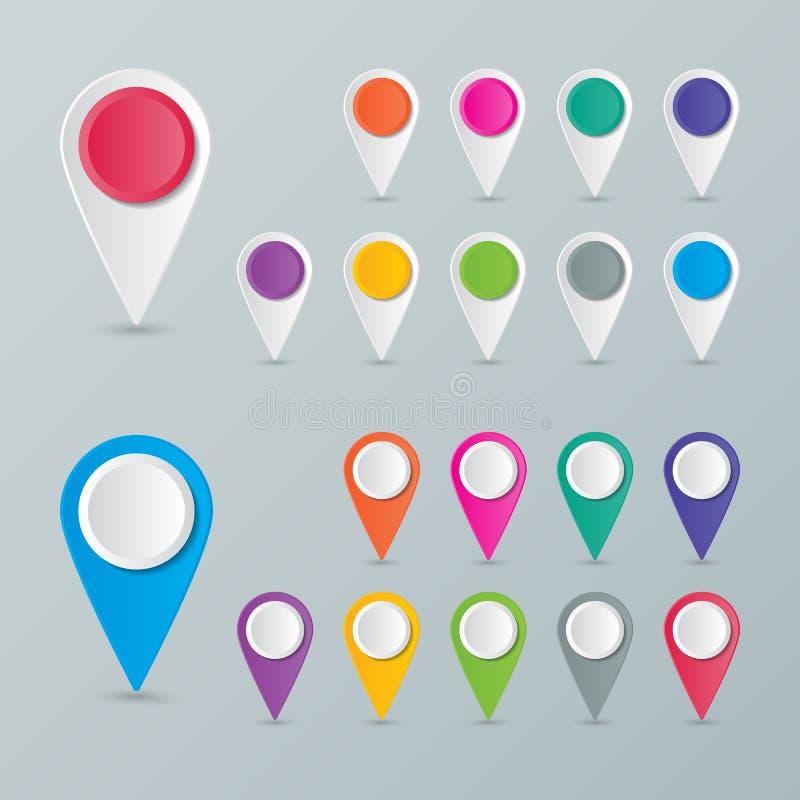 Puntatore della mappa illustrazione di stock