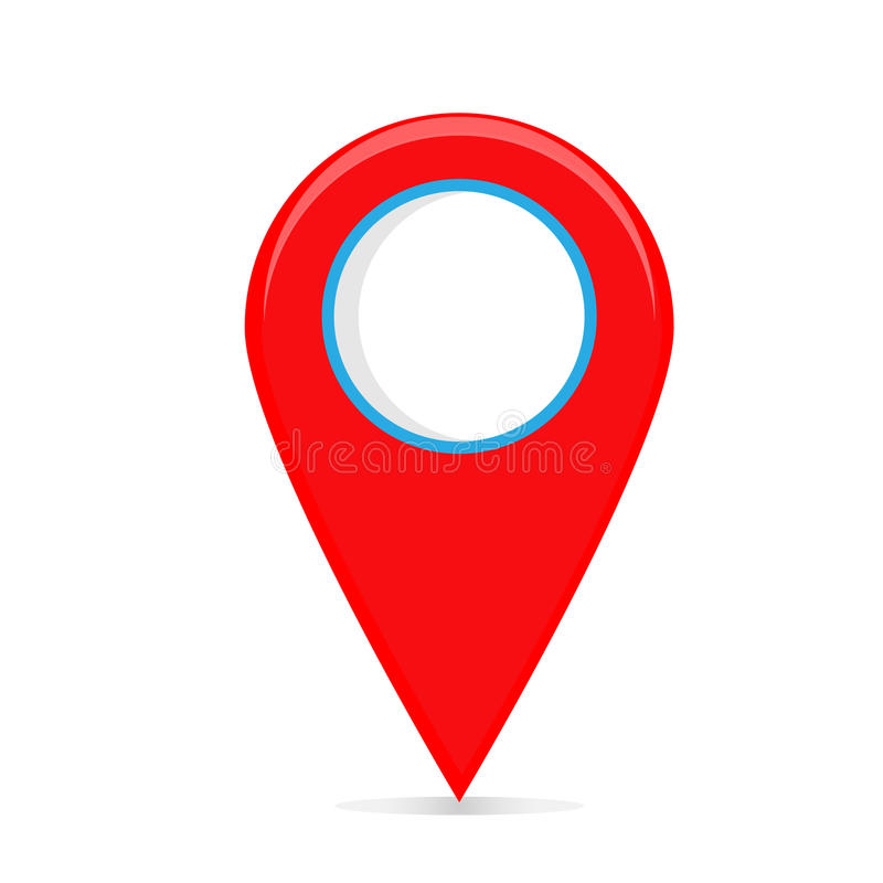 Puntatore della mappa fotografie stock libere da diritti