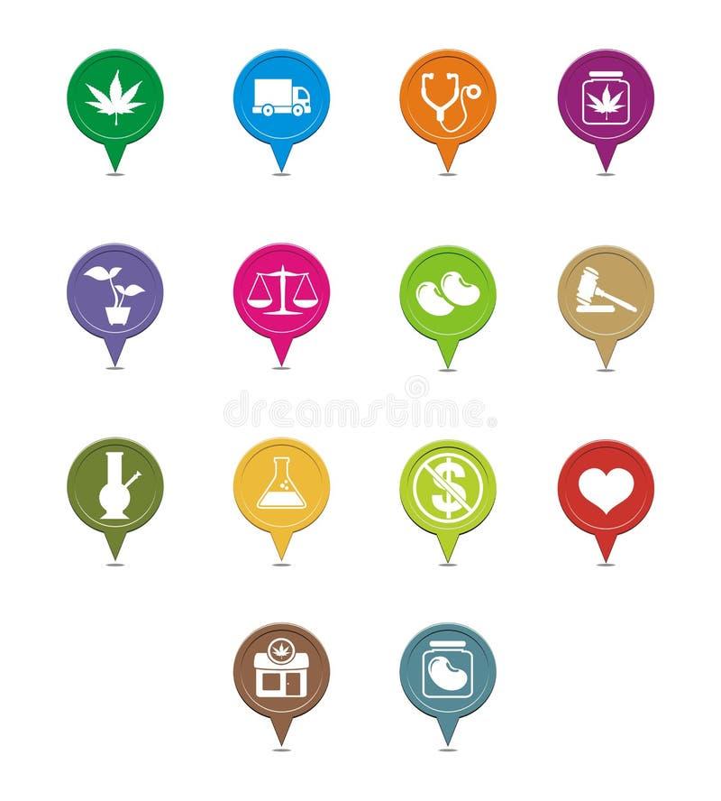 Puntatore medico della marijuana royalty illustrazione gratis