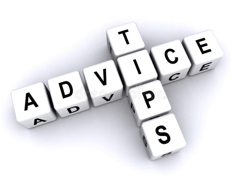Punte e consiglio in blocchi illustrazione di stock