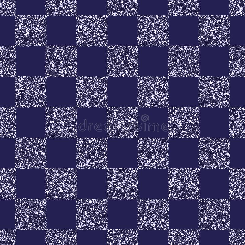 Puntea el modelo inconsútil del vector del tablero de ajedrez Textura punteada geométrica abstracta para el diseño superficial, m stock de ilustración
