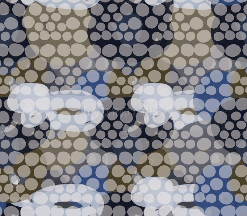 Punteado con la capa transparente de los círculos libre illustration