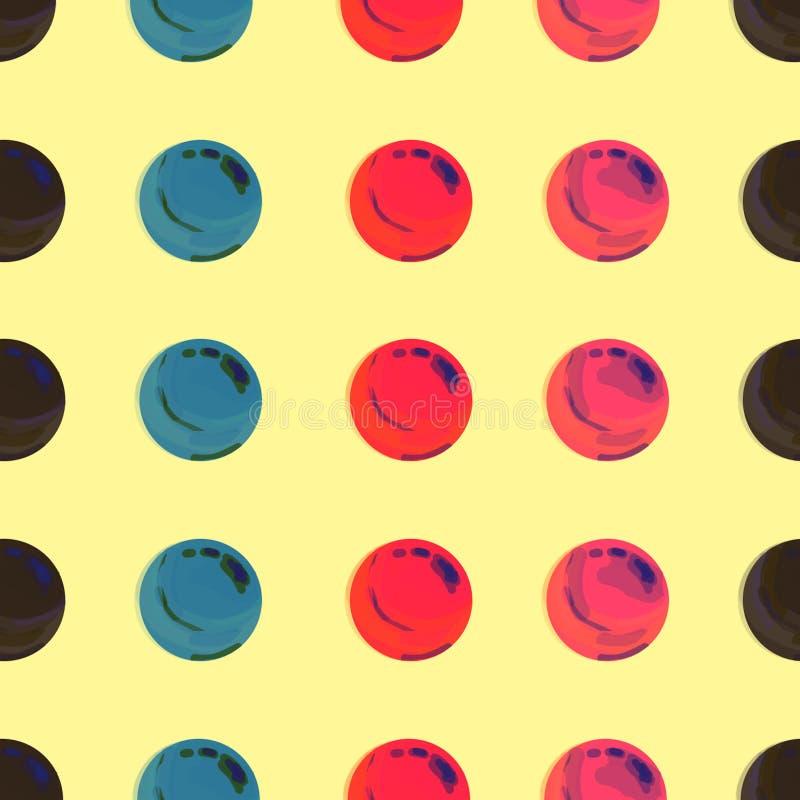 Punteggiato, schiocco Art Background, schiocco Art Pattern Fondo simbolico di arte degli anni 60 Contesto rotondo di arte del cer illustrazione vettoriale