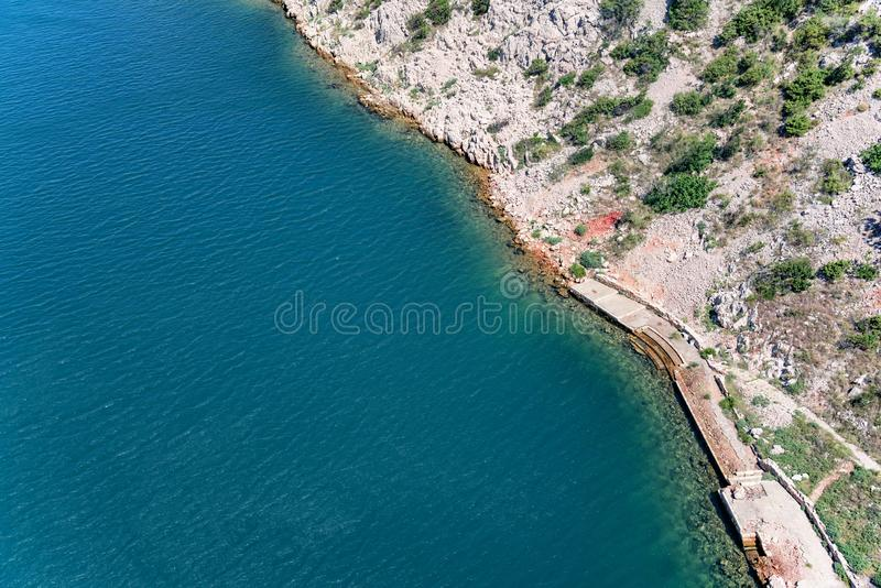 Puntello di mare Vista da sopra fotografie stock libere da diritti